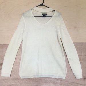 Choker long sleeve knit sweater